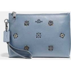 Charlie Pouch With Scattered Rivets in Blue found on Bargain Bro UK from coach stores limited