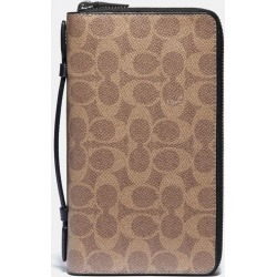 Double Zip Travel Organizer In Signature Canvas in Beige found on Bargain Bro UK from coach stores limited