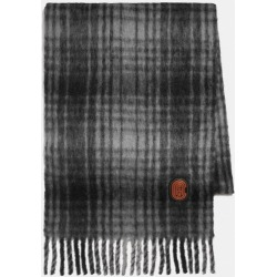 Hunting Plaid Print Oversized Muffler in White - Size ONE found on Bargain Bro UK from coach stores limited