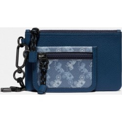 Double Pouch Lanyard With Horse And Carriage Print in Blue found on Bargain Bro UK from coach stores limited