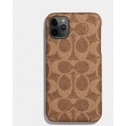 Iphone 11 Pro Case In Signature Canvas in Beige - Size ONE found on Bargain Bro UK from coach stores limited