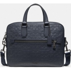 Kennedy Brief In Signature Leather in Blue found on Bargain Bro UK from coach stores limited
