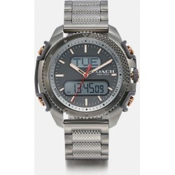 C001 Watch, 46mm in Grey - Size MEN found on Bargain Bro UK from coach stores limited