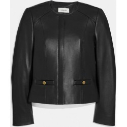 Tailored Leather Jacket in Black - Size 06 found on MODAPINS from coach stores limited for USD $870.46