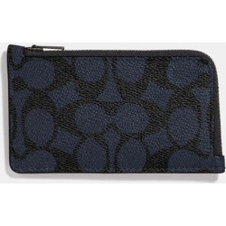 L-zip Card Case In Signature Canvas in Blue found on Bargain Bro UK from coach stores limited