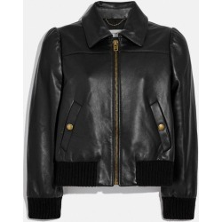 Leather Tailored Bomber Jacket in Black - Size 10 found on MODAPINS from coach stores limited for USD $1058.06
