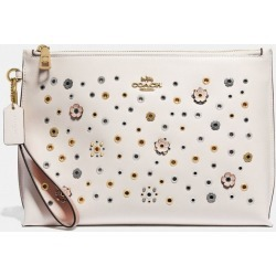 Large Charlie With Scattered Rivets in White found on Bargain Bro UK from coach stores limited