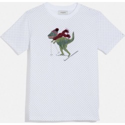 Rexy Dot T-shirt in White - Size S found on Bargain Bro UK from coach stores limited