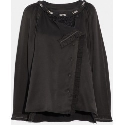 Ruffle Shirt in Black - Size 06 found on Bargain Bro UK from coach stores limited