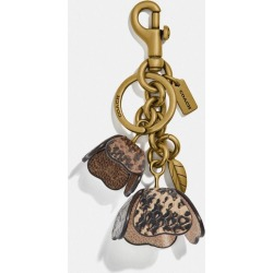 Tea Rose Bag Charm In Snakeskin in Brown found on Bargain Bro UK from coach stores limited