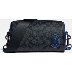 Pacer Convertible Dome In Colorblock Signature Canvas With Patch in Blue/Grey found on Bargain Bro UK from coach stores limited