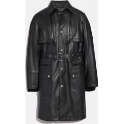 Leather Raincoat in Black - Size 54 found on Bargain Bro UK from coach stores limited