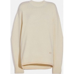 Crewneck Essentials in White - Size S found on Bargain Bro UK from coach stores limited