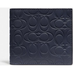 Double Billfold Wallet In Signature Leather in Blue found on Bargain Bro UK from coach stores limited