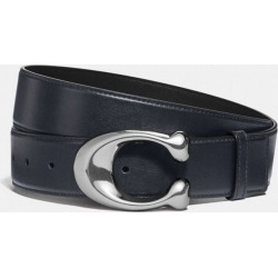 Signature Buckle Cut-to-size Dress Belt, 38mm in Blue - Size 42 found on Bargain Bro UK from coach stores limited