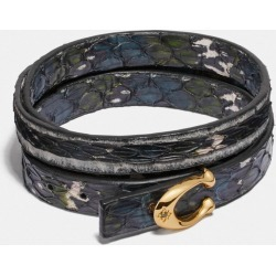 Signature Bracelet In Snakeskin in Black found on Bargain Bro UK from coach stores limited