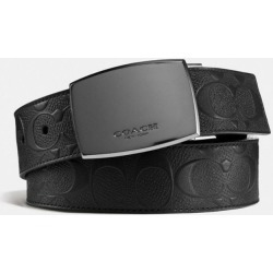 Plaque Buckle Cut-To-Size Reversible Belt, 38Mm in Black found on Bargain Bro UK from coach stores limited