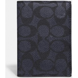 Bifold Card Case In Signature Canvas in Blue found on Bargain Bro UK from coach stores limited