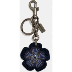 Biker Rivet Tea Rose Bag Charm in Blue found on Bargain Bro UK from coach stores limited
