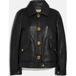 Bonded Leather Jacket in Black - Size 0 found on MODAPINS from coach stores limited for USD $720.17