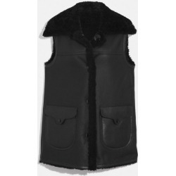 Reversible Shearling Vest in Black - Size 04 found on MODAPINS from coach stores limited for USD $750.10