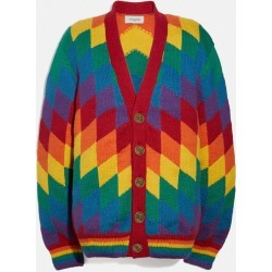 Rainbow Cardigan in Multi - Size S found on MODAPINS from coach stores limited for USD $962.64