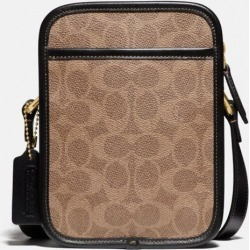 Zip Camera Bag In Signature Canvas in Beige found on Bargain Bro UK from coach stores limited