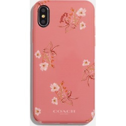 Coach Iphone X/xs Case With Floral Bow Print