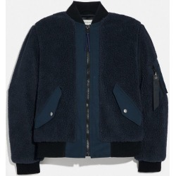 Fleece Ma-1 Jacket in Blue - Size 50 found on Bargain Bro UK from coach stores limited