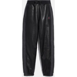 X Champion Leather Sweatpants in Black - Size S found on MODAPINS from coach stores limited for USD $1101.14