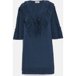 Short Glam Rock Prairie Dress With Ruffles in Blue - Size 06 found on Bargain Bro UK from coach stores limited