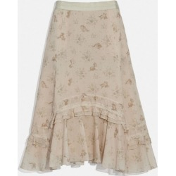 Disney X Long Tiered Skirt in Beige - Size 06 found on Bargain Bro UK from coach stores limited