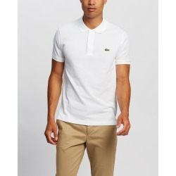 Lacoste - Slim Fit Core Polo - Shirts & Polos (White) Slim Fit Core Polo found on Bargain Bro Philippines from THE ICONIC for $74.65