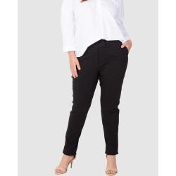Love Your Wardrobe - Stretch Bengaline Tummy Tuck Pants - Pants (Black) Stretch Bengaline Tummy Tuck Pants
