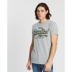 Superdry - Vintage Logo Camo Layered Tee - T-Shirts & Singlets (Grey Marle) Vintage Logo Camo Layered Tee found on Bargain Bro India from THE ICONIC for $24.59