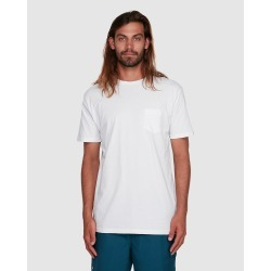 Quiksilver - Mens Poster Pocket T Shirts - T-Shirts & Singlets (White) Mens Poster Pocket T Shirts