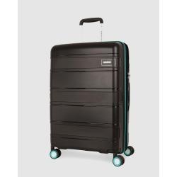American Tourister - Litevlo Spinner 55 20 - Travel and Luggage (Black & Turquoise) Litevlo Spinner 55-20