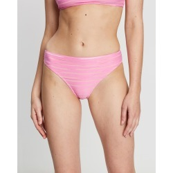 Cleonie - Textured Striped Cheeky Mini Briefs - Bikini Bottoms (Bright Pink) Textured Striped Cheeky Mini Briefs found on Bargain Bro Philippines from THE ICONIC for $44.51