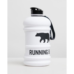 Running Bare - H2O Bear 2.2L Water Bottle - Running (Matte White) H2O Bear 2.2L Water Bottle