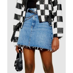 TOPSHOP - MOTO Denim Mini Skirt - Denim skirts (Mid Denim) MOTO Denim Mini Skirt found on Bargain Bro Philippines from THE ICONIC for $31.13