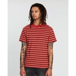 Cotton On - Dylan Tee - T-Shirts & Singlets (Red, Sauterne Yellow, Black & Vintage White Stripe) Dylan Tee