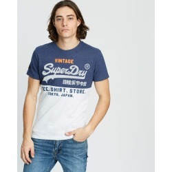 Superdry - Shirt Shop Tri Panel Tee - T-Shirts & Singlets (Princedom Blue Marle & Ice Marle) Shirt Shop Tri-Panel Tee found on Bargain Bro India from THE ICONIC for $24.59