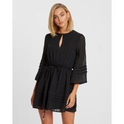 Calli - Tessa Pin Tuck Dress - Dresses (Black) Tessa Pin Tuck Dress