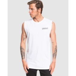 Quiksilver - Mens Cobra Fang Muscle T Shirt - Muscle Tops (White) Mens Cobra Fang Muscle T Shirt