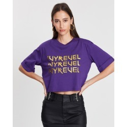Ivyrevel - Cropped Ivy T Shirt - T-Shirts & Singlets (Purple) Cropped Ivy T-Shirt