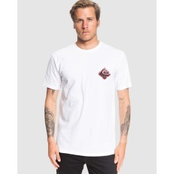 Quiksilver - Mens Chain Fire T Shirt - T-Shirts & Singlets (White) Mens Chain Fire T Shirt