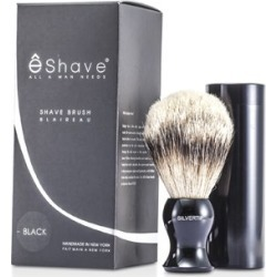 EShave Travel Brush Silvertip With Canister - Black 1pc found on Bargain Bro Philippines from Strawberry Cosmetics for $156.00
