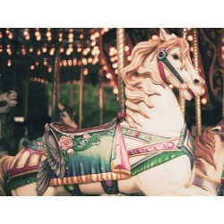 Poster: Photography's Vintage Carousel Horse, 12x9in.
