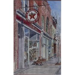 Giclee Painting: Butera's Art Print: Antique Shop, Beacon Art Print by