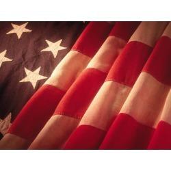 Poster: Kamp's American Flag, 24x18in.